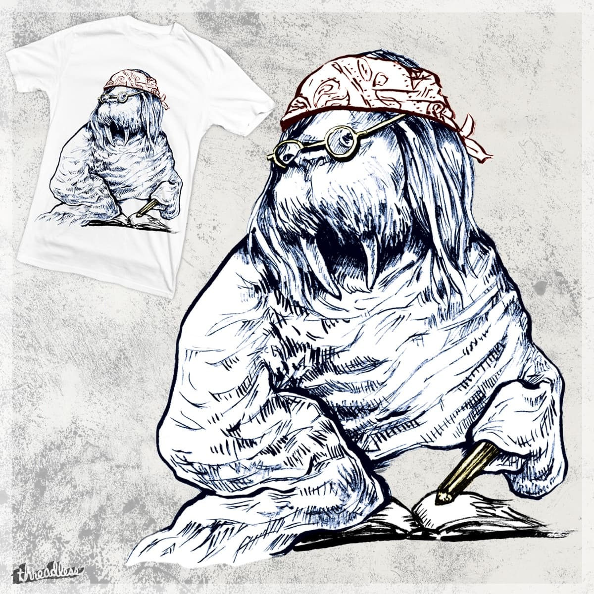 David Foster Walrus by artzane on Threadless