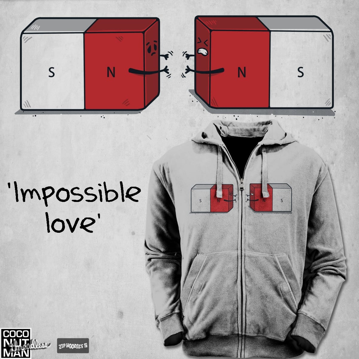 Impossible love by coconutman on Threadless