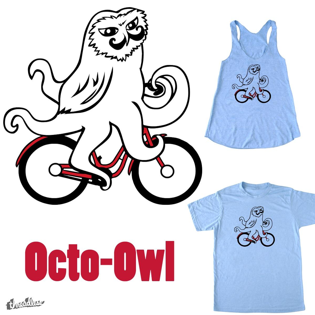 Octo-Owl by cyndi_lou_77 on Threadless