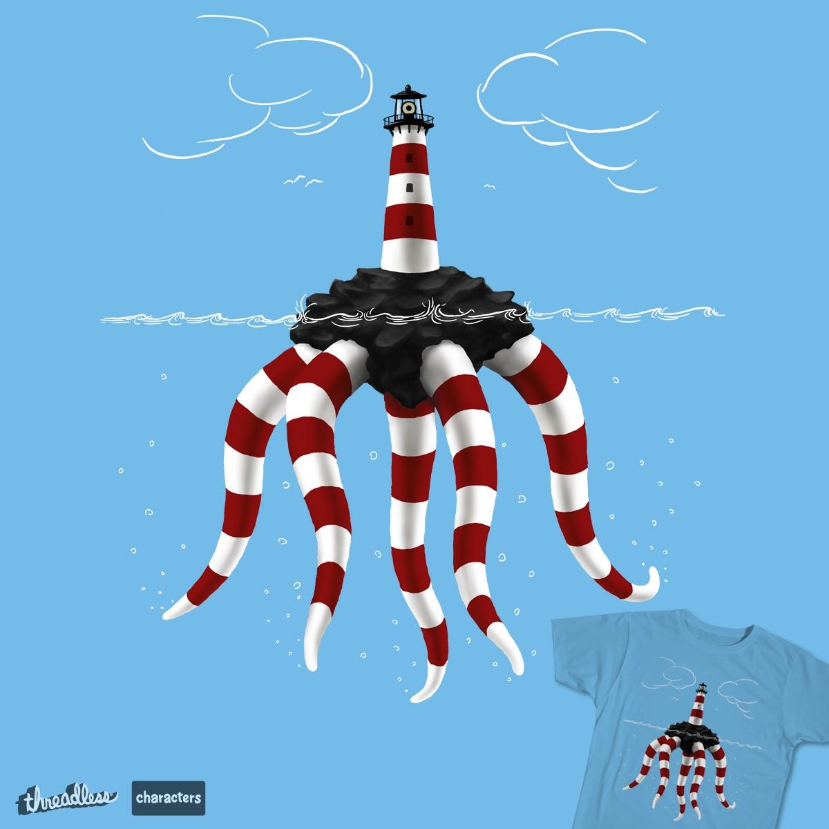 Lighthouse Monster by dudesign on Threadless