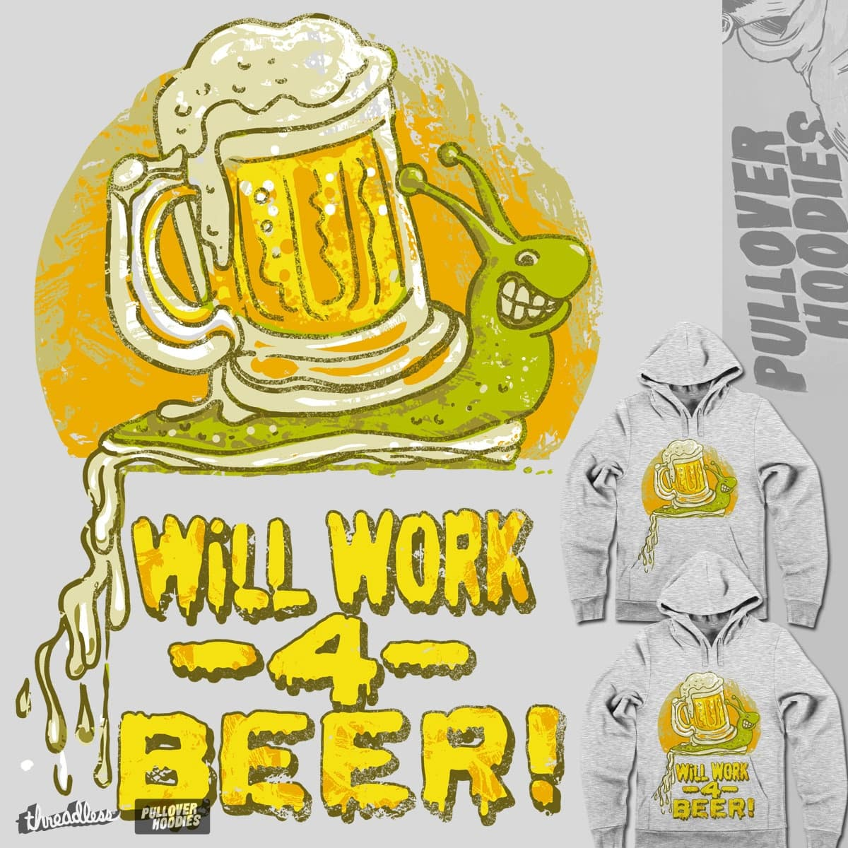 Will Work For Beer by MudgeStudios on Threadless