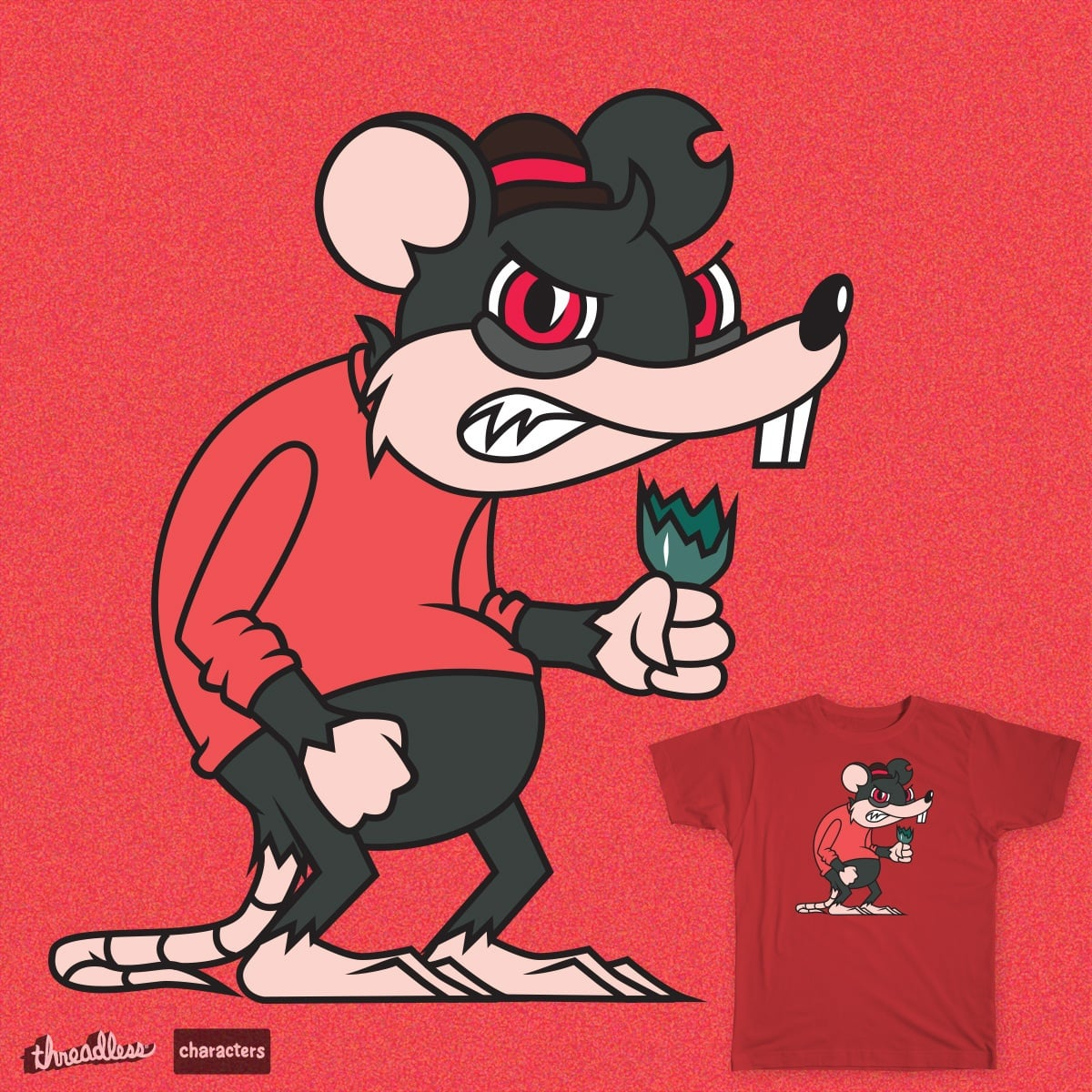 Mugger Mike by Colectivo Decora on Threadless