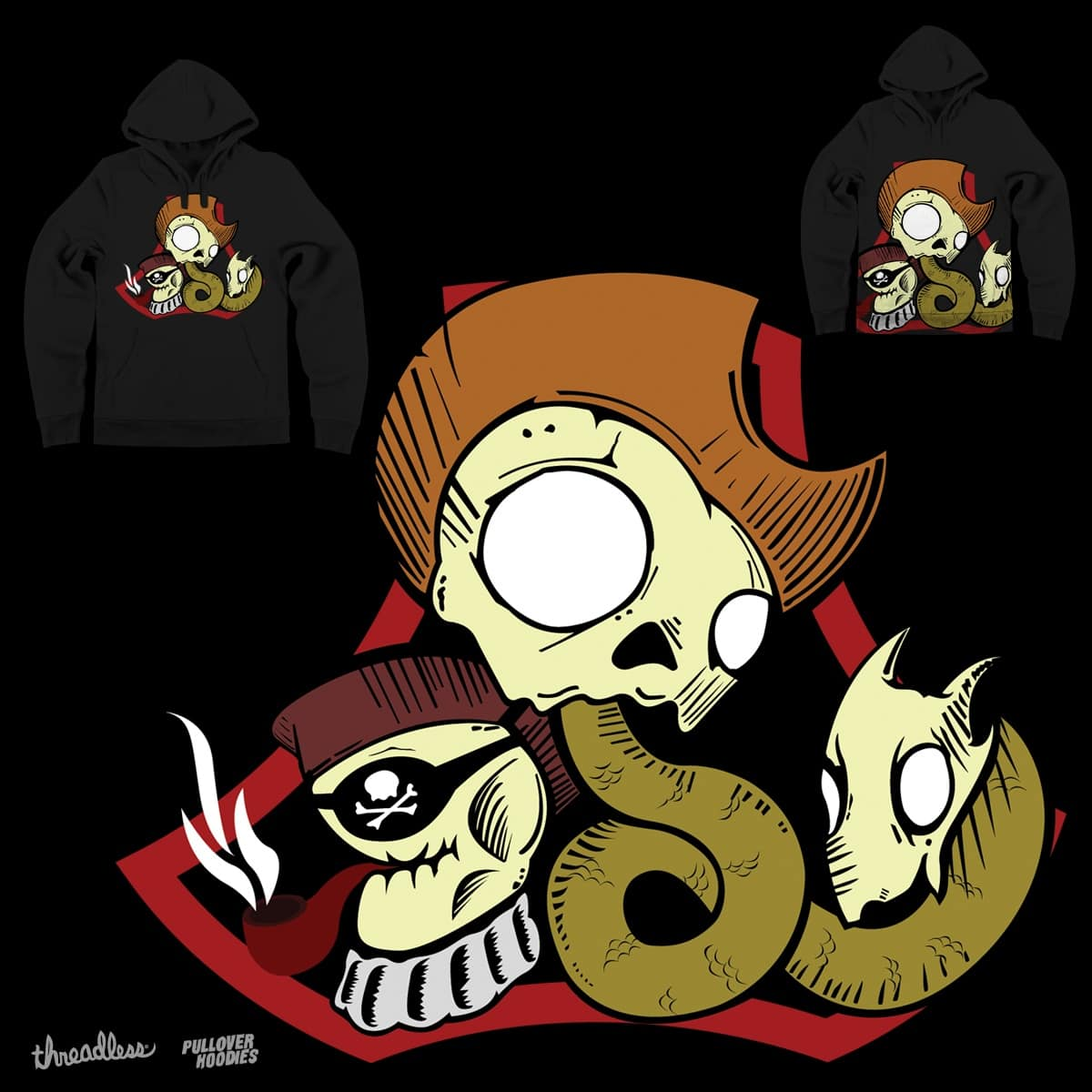 Pirates, Cowboys and Snakes by eLCharo on Threadless