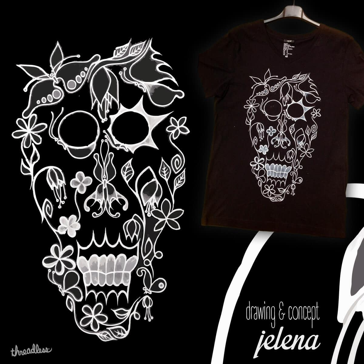 Butterfly skull by Jelena_dance on Threadless