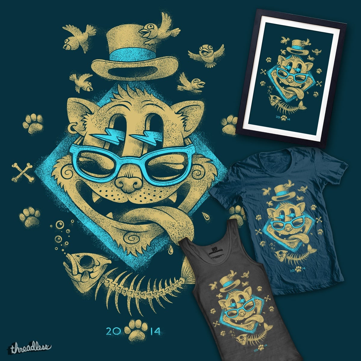 Cat by oleggert on Threadless