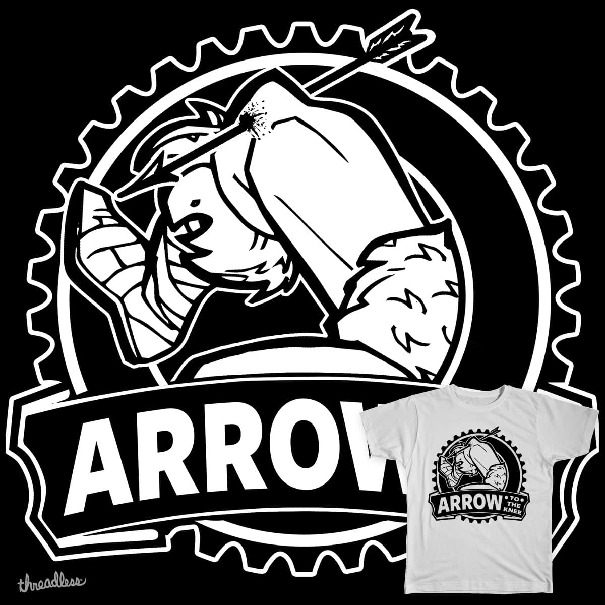Arrow To The Knee by Immortalized on Threadless