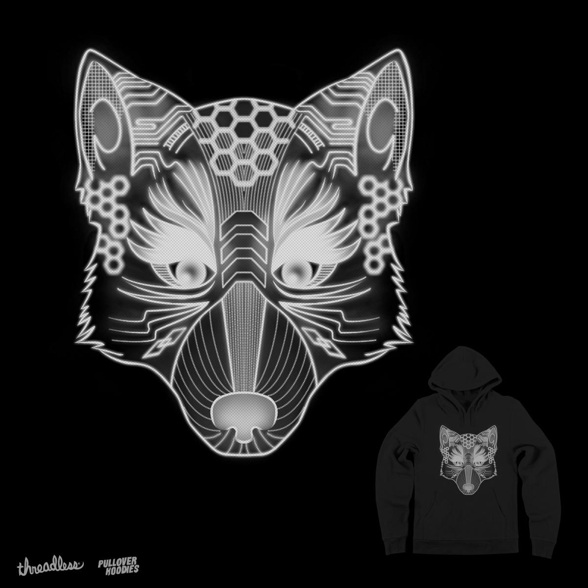 DIGITAL WOLF by farlyfs on Threadless