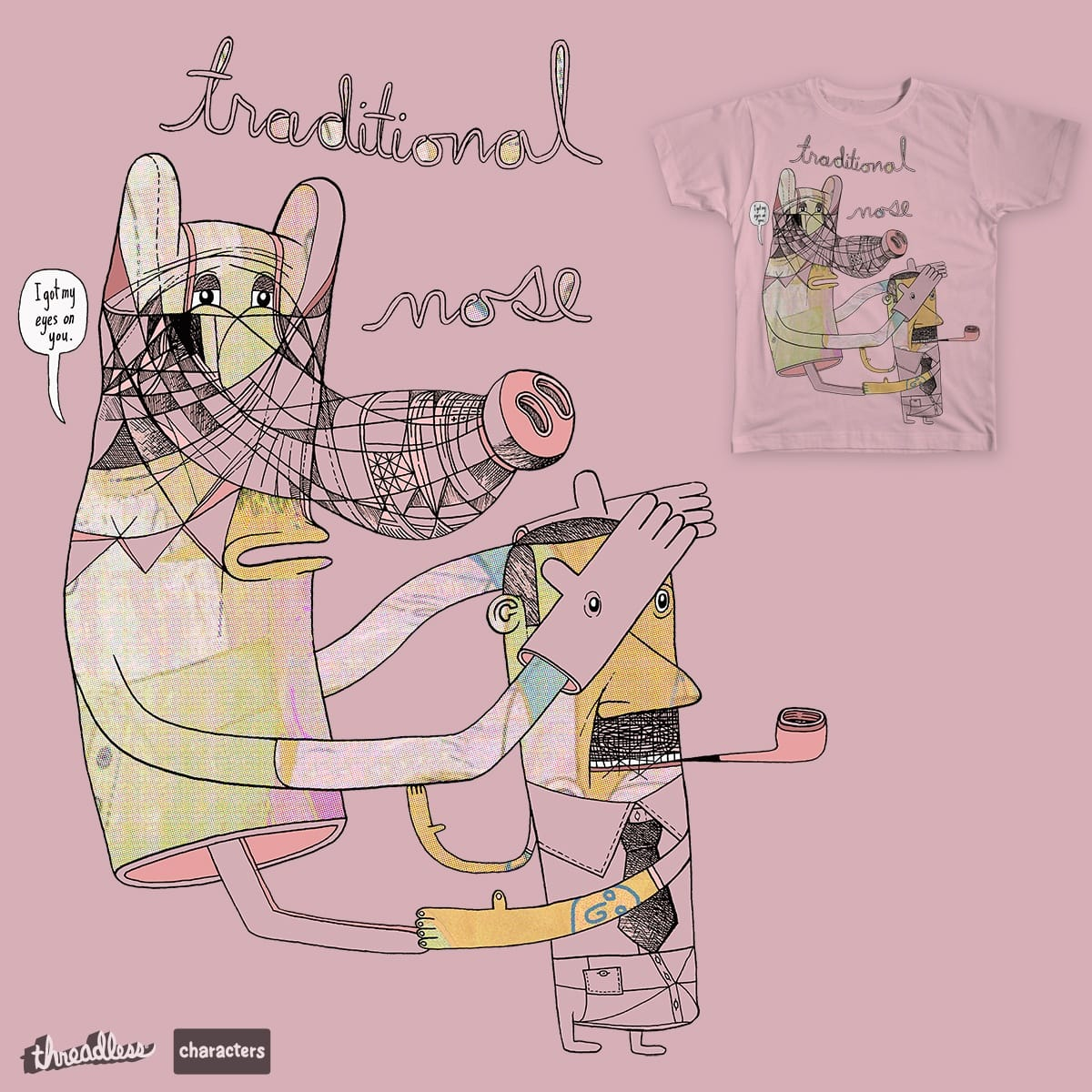 traditional nose by Peter Thompson on Threadless