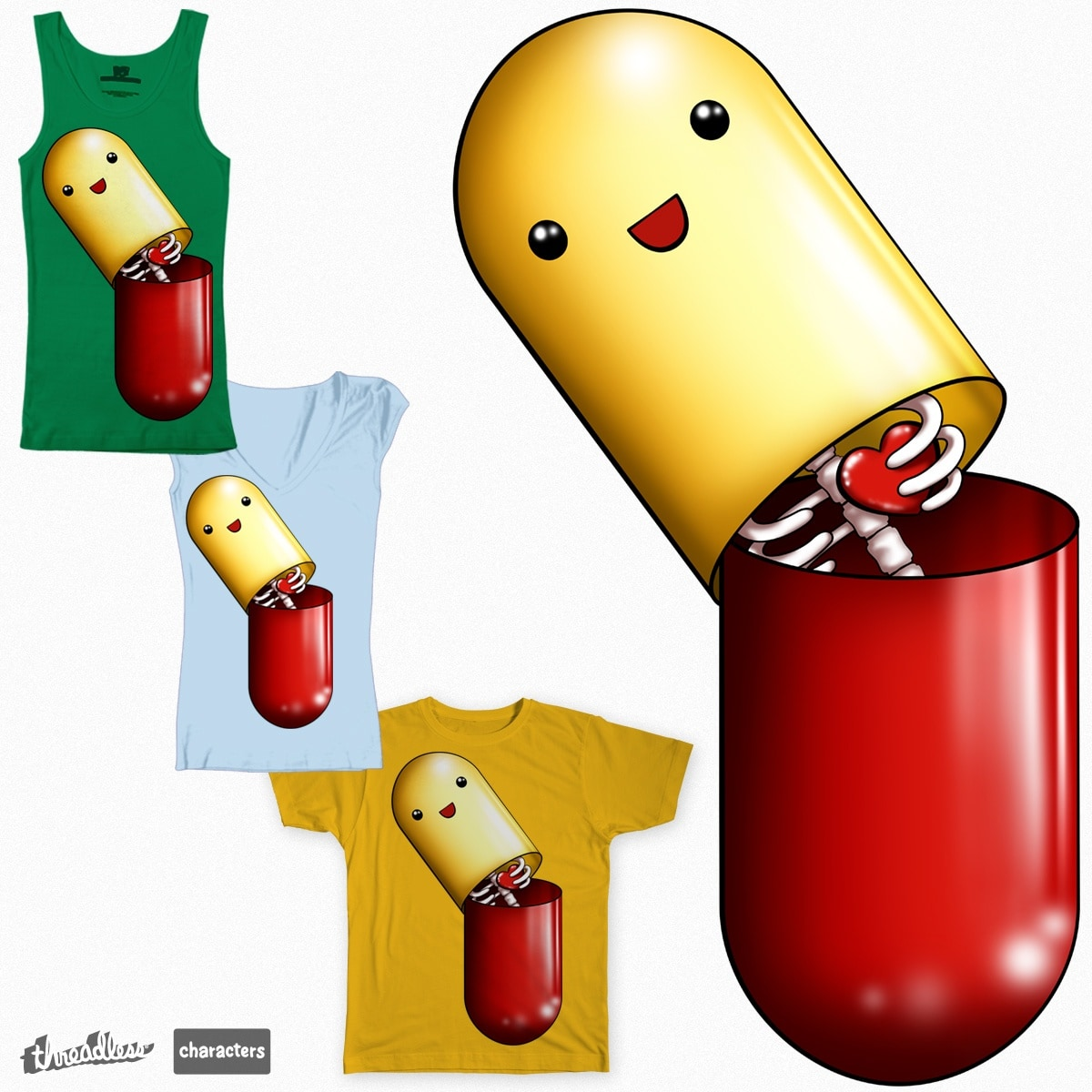 Happy Pill by innocentkilla on Threadless