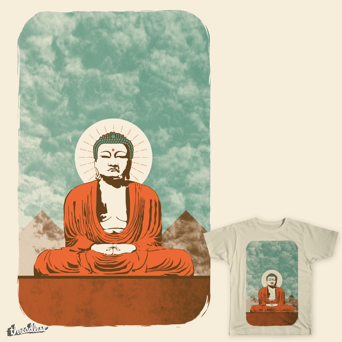 Buddha in colors by msara4 on Threadless