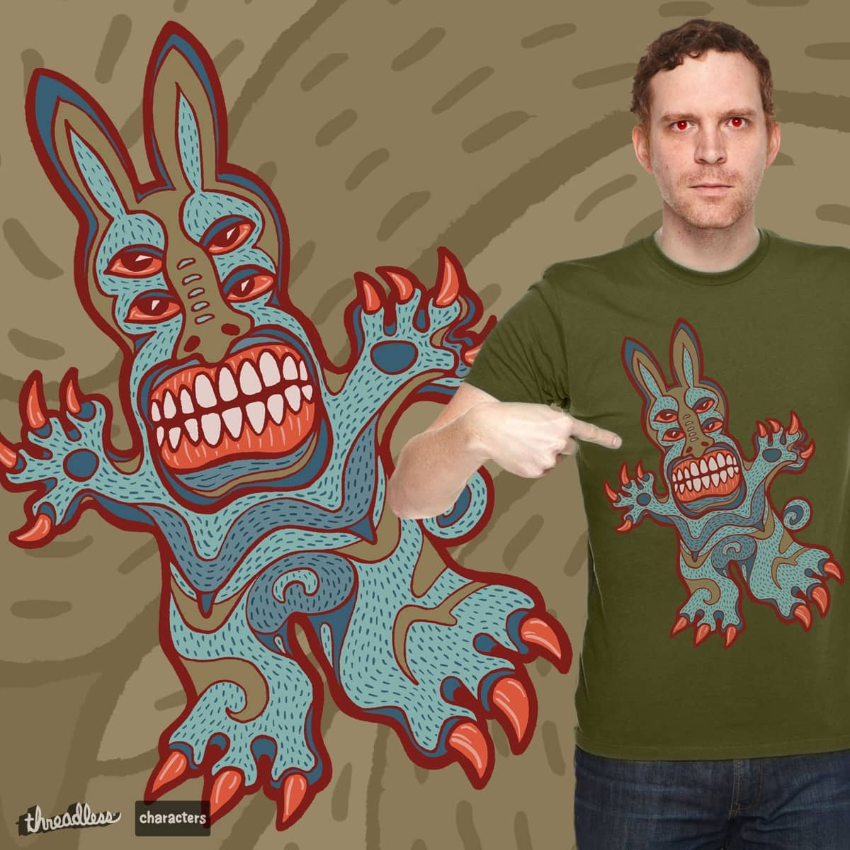 Raving Zombie Rabbit by dsds on Threadless