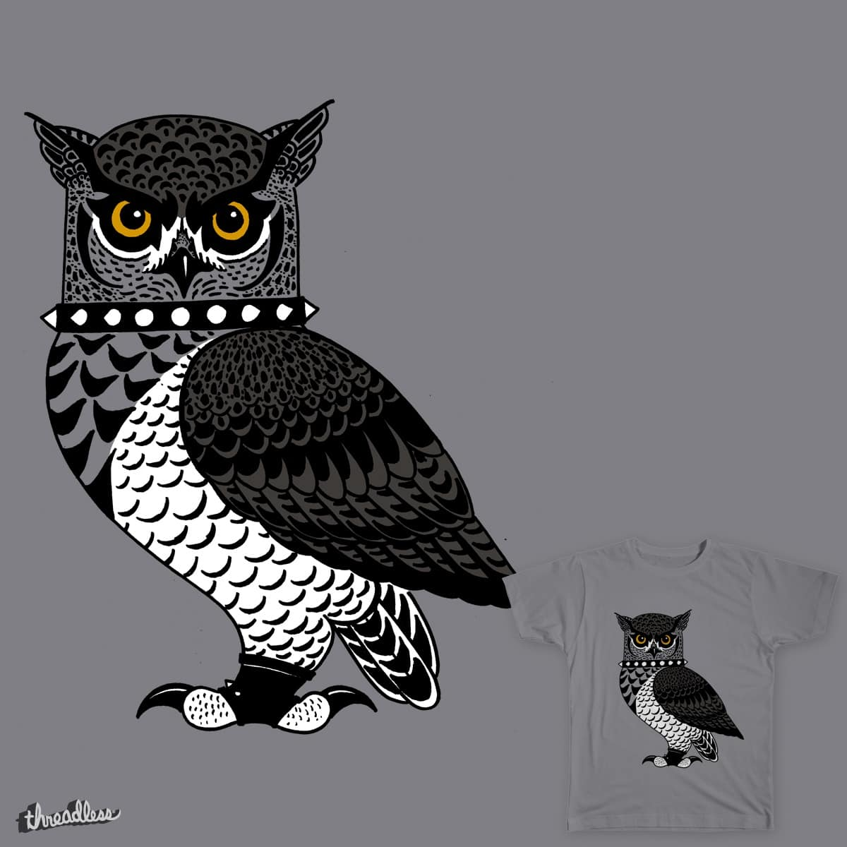 Goth Owl by Verreaux on Threadless