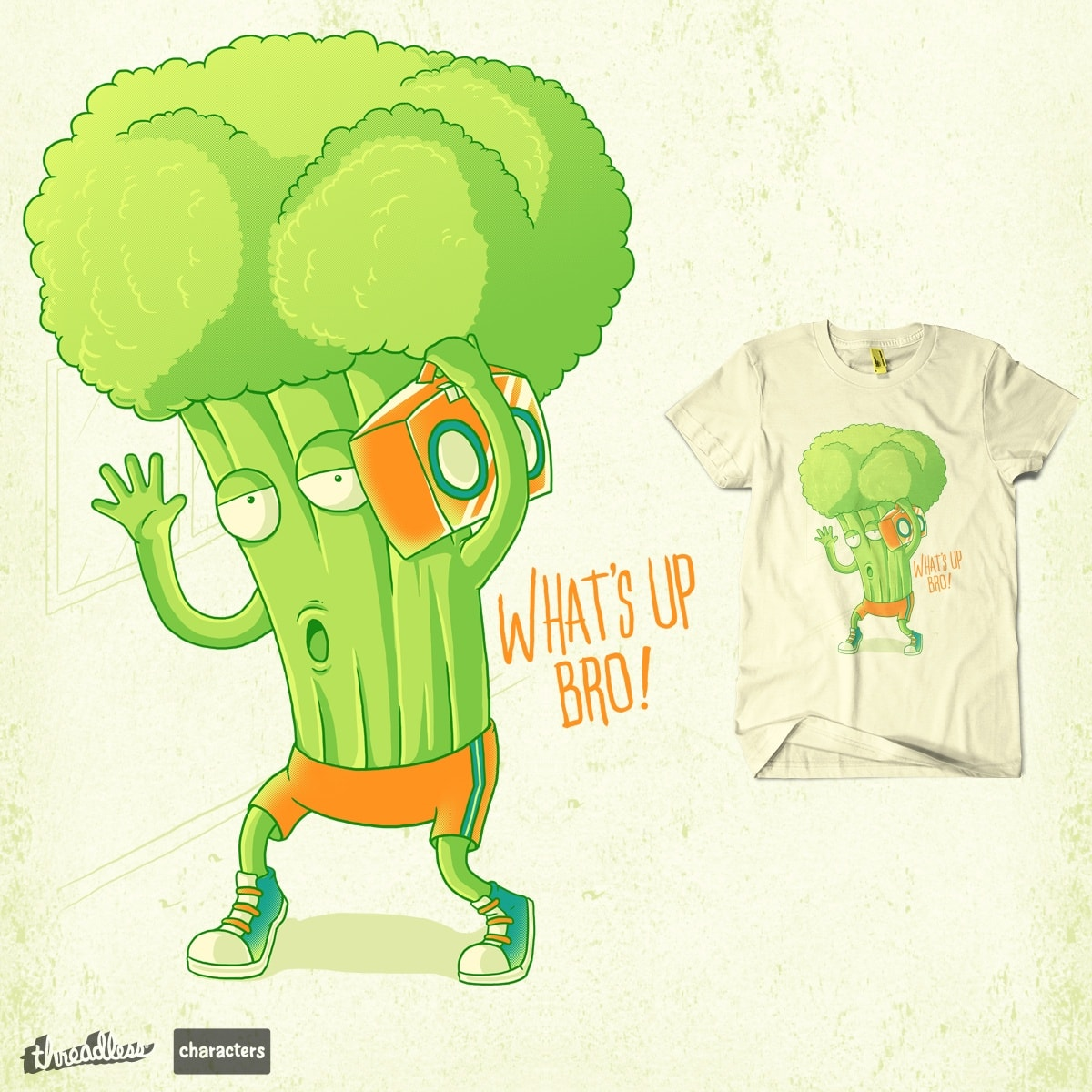 Mr. Broccoli by rifalisme on Threadless