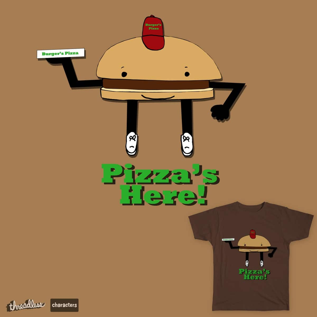 Burger's Pizza by cmschulz on Threadless