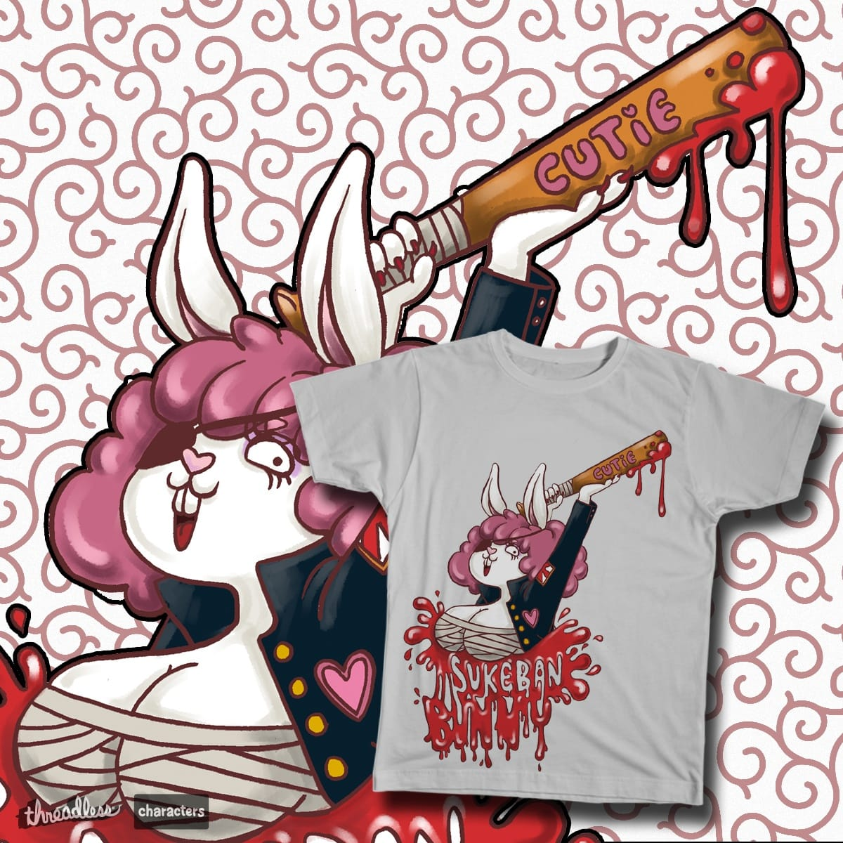 Sukeban Bunny by Thiseyeball on Threadless