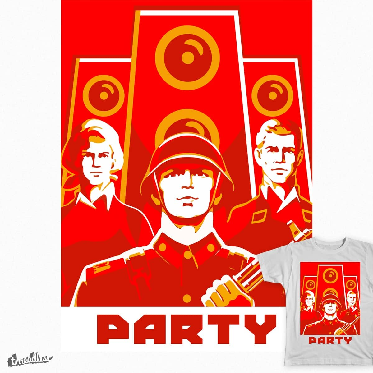 The Eastern Party! by Little Fat Duck on Threadless