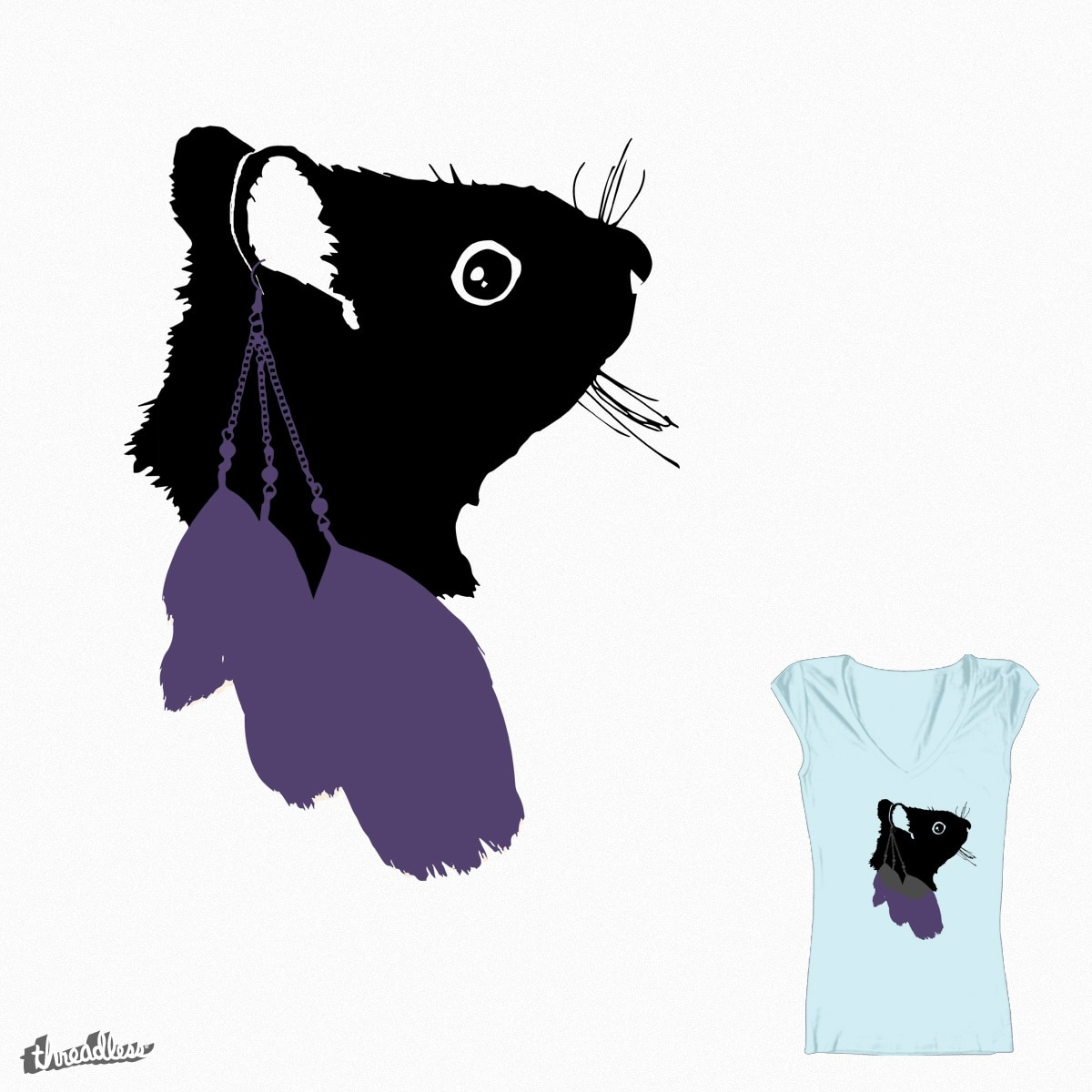 Feathered Squirrel by jenna91 on Threadless