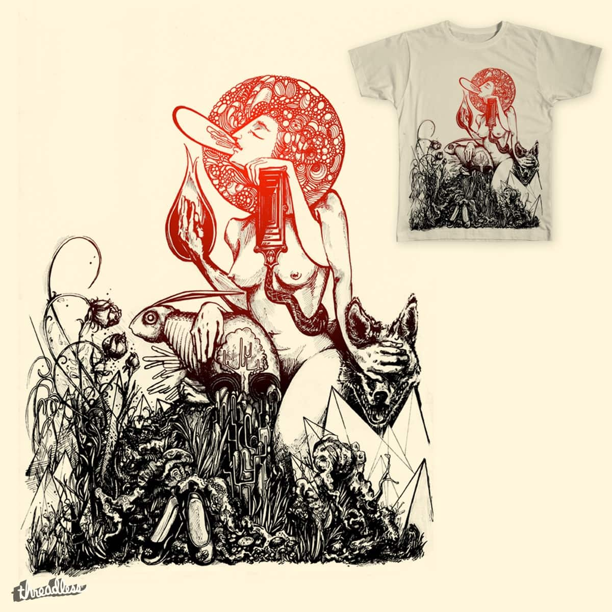 Lady White by aguyton on Threadless
