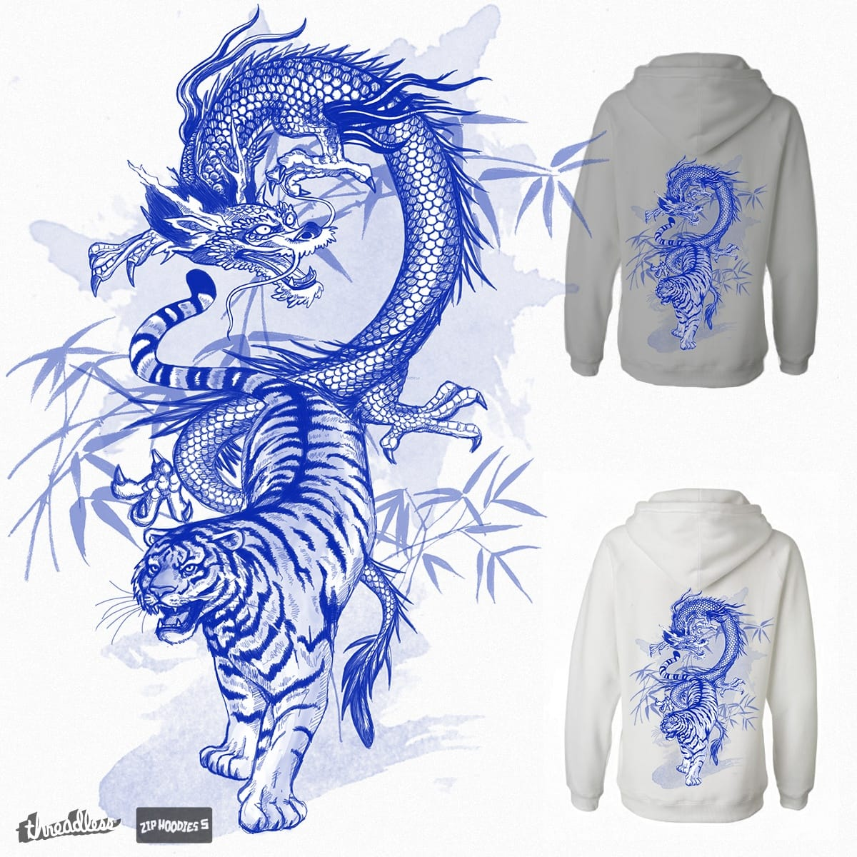 A dragon and a tiger by Lenath on Threadless