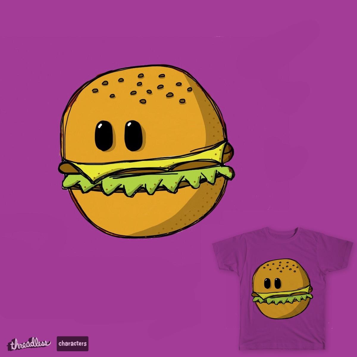 Cute hamburger with eyes. by cherniyman on Threadless