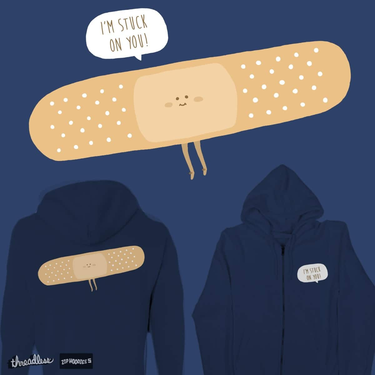 I'm stuck on you! by Ri7Li on Threadless