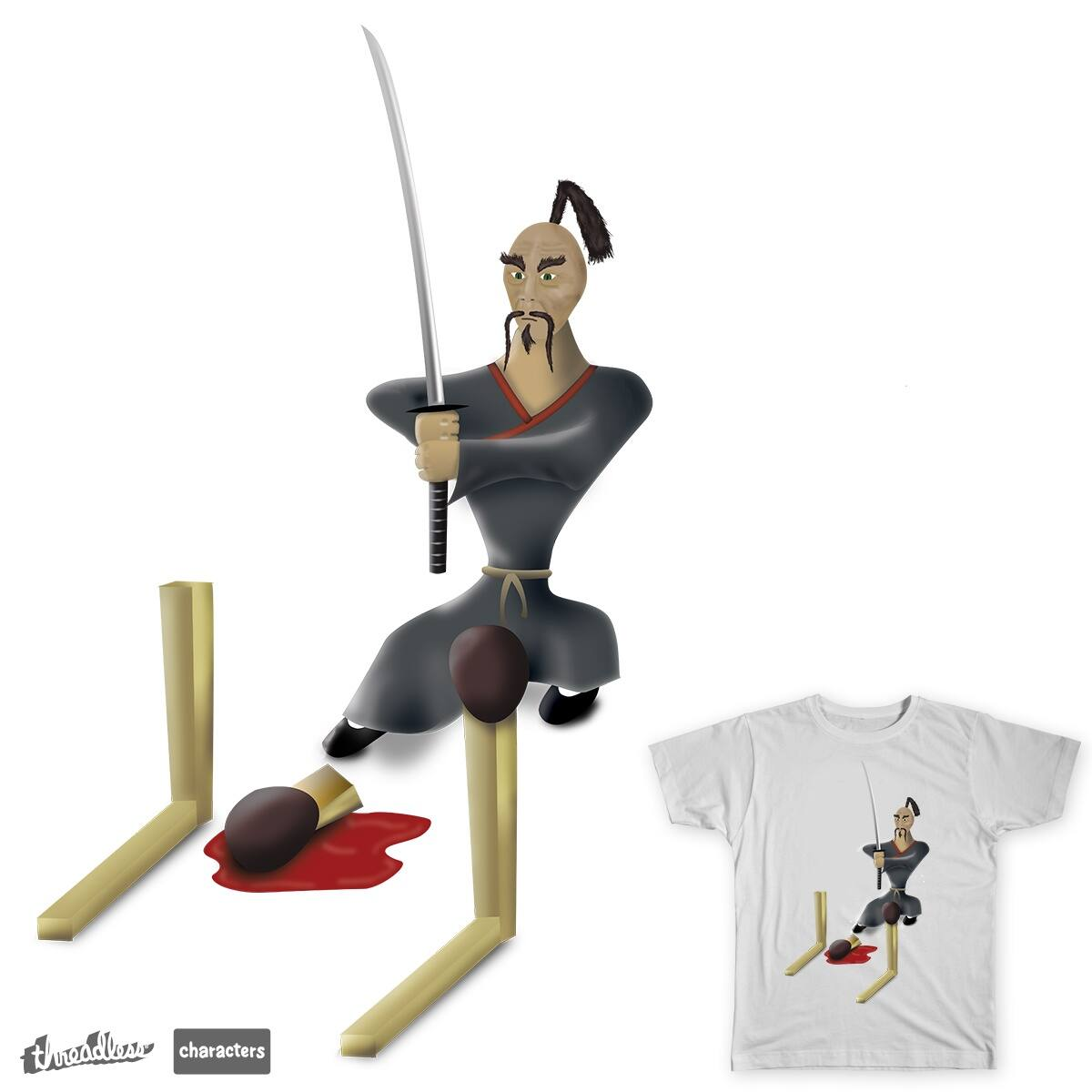 Grumpy Flame Assassin by psi0nic on Threadless
