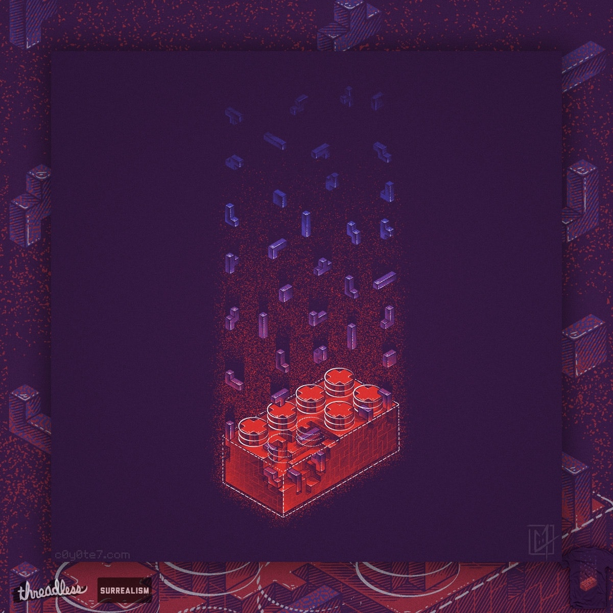 Brick-Ception by c0y0te7 on Threadless
