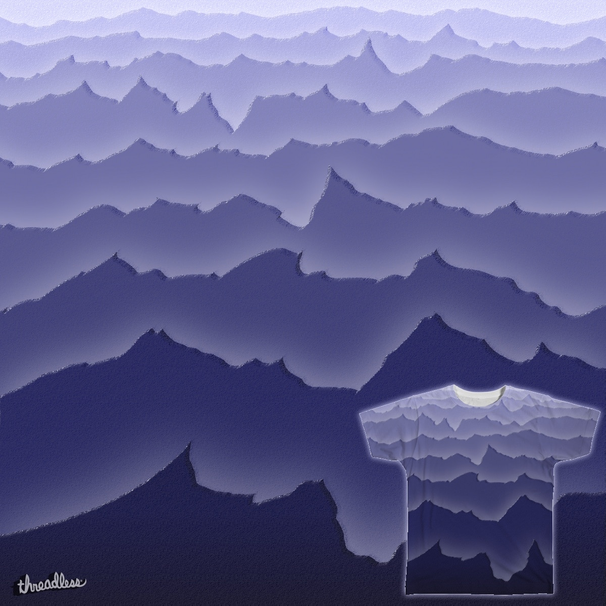We Sit Together, the Mountains and Me by skyfry on Threadless