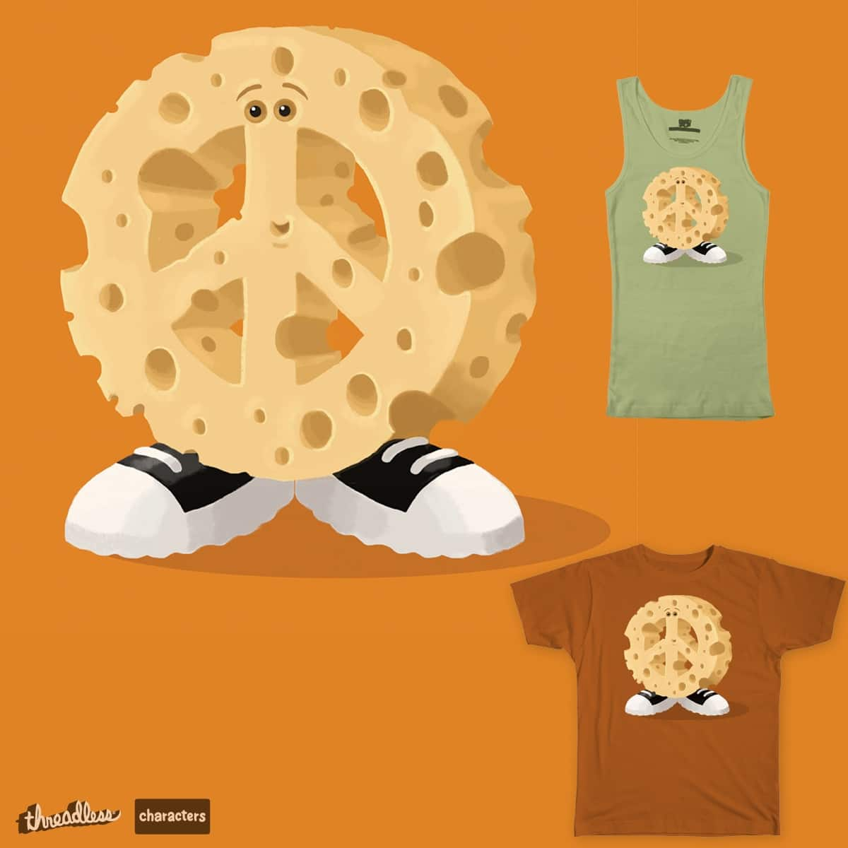 The Peace O' Cheese Guy by The Pencil and Mouse on Threadless