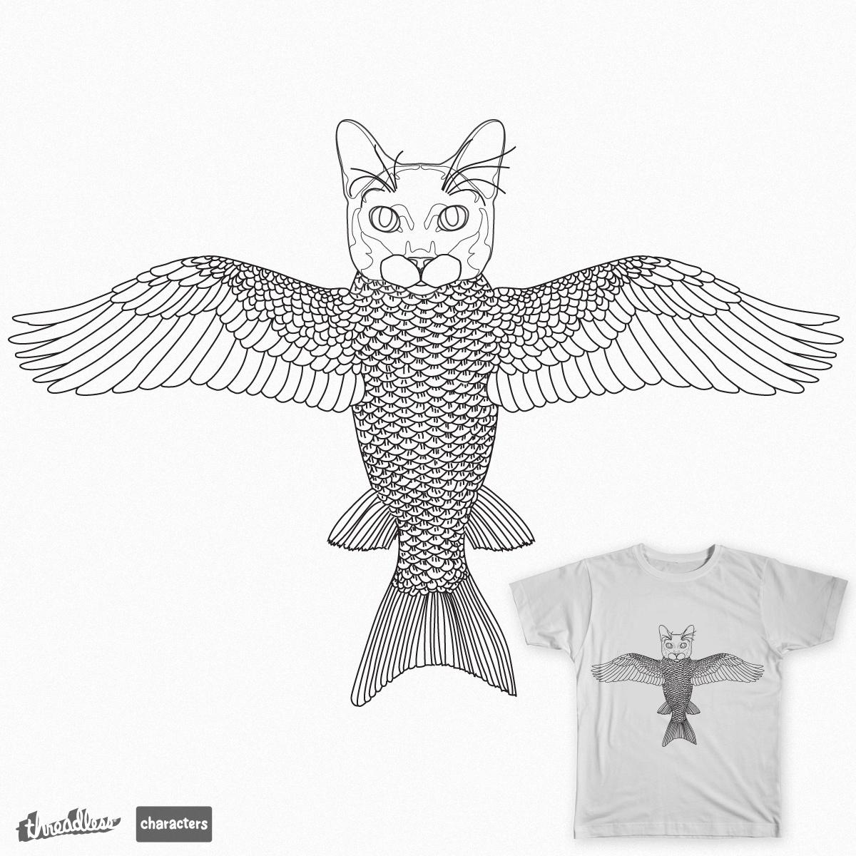 Flying fishcat by shmugavac on Threadless