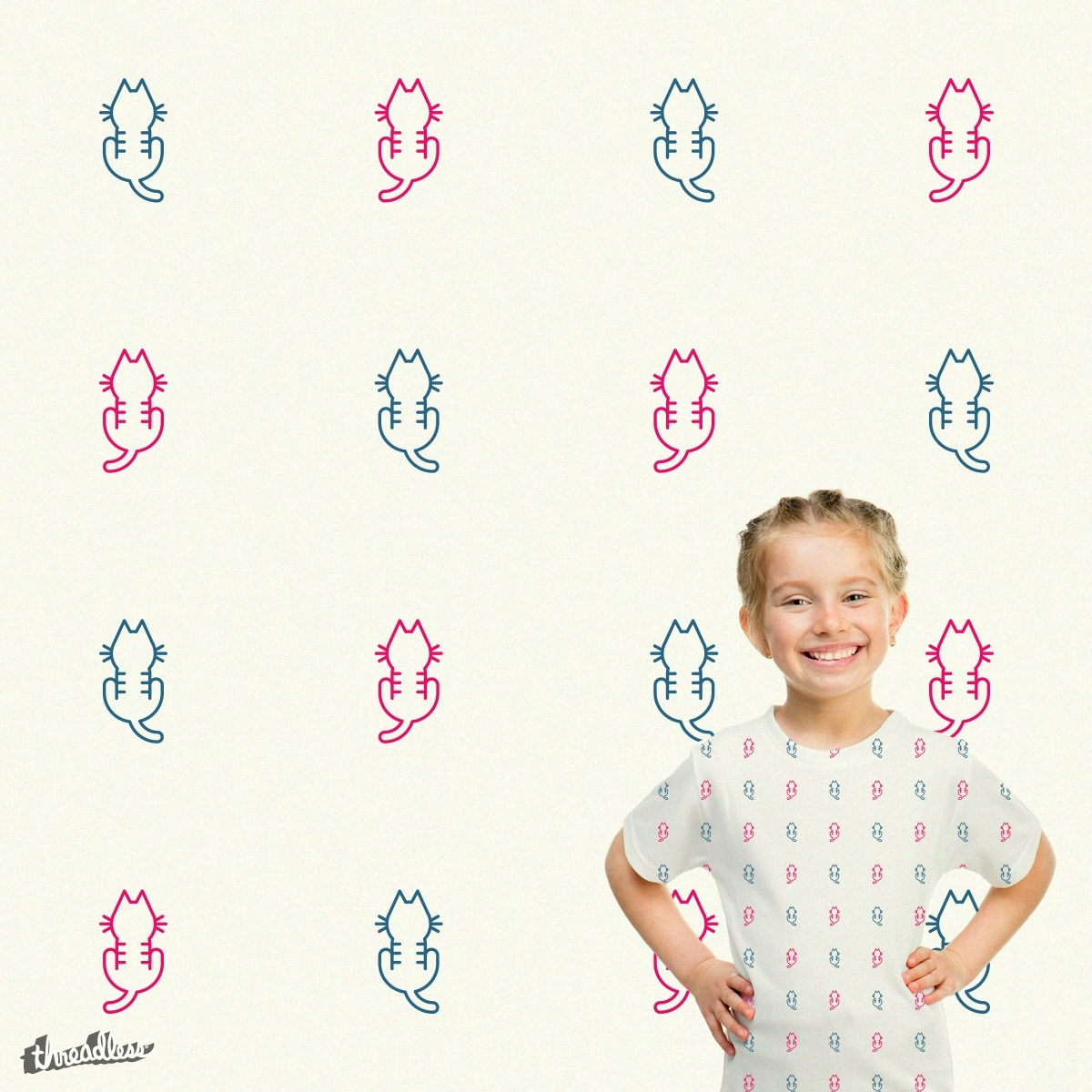 Kitten Pattern by tugrulpeker on Threadless