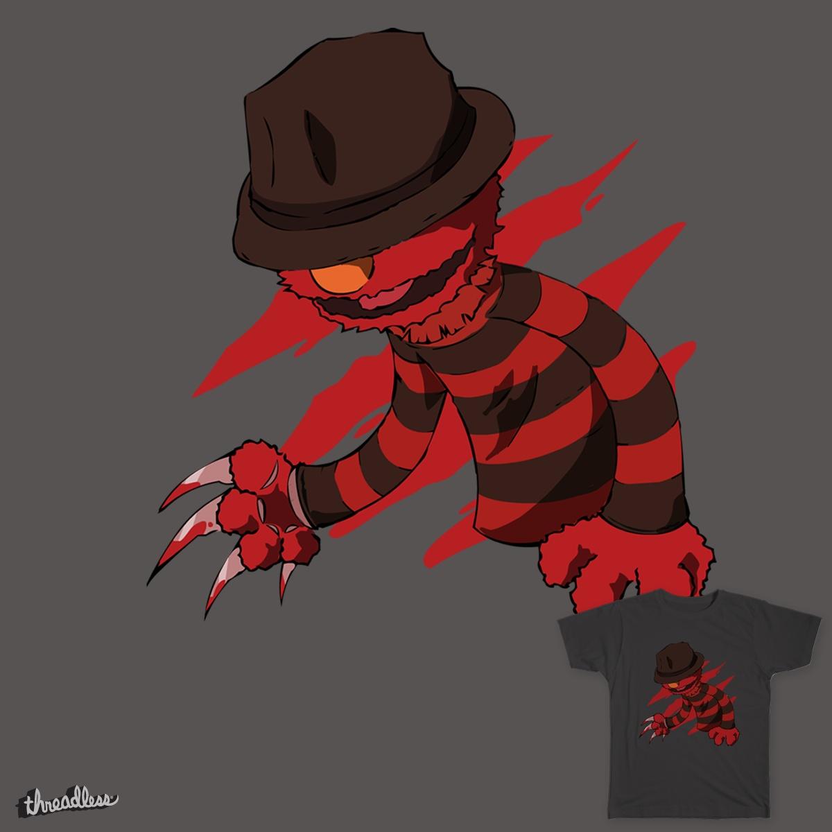 A Nightmare on Elmo Street by batarchaic on Threadless