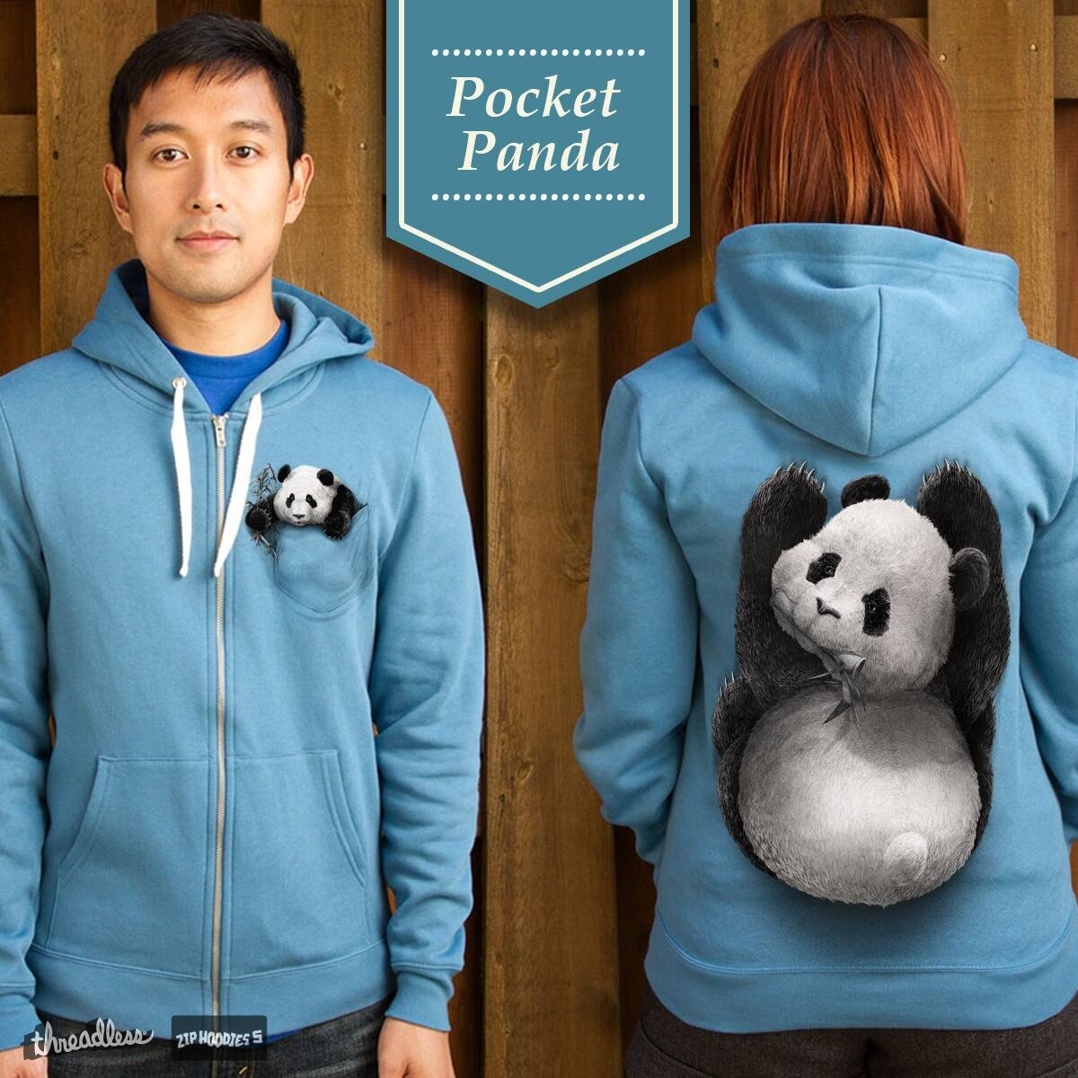 Pocket Panda by Winardi on Threadless