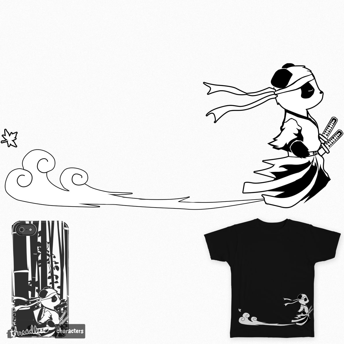 Samurai Panda by IxxZeroxxI on Threadless