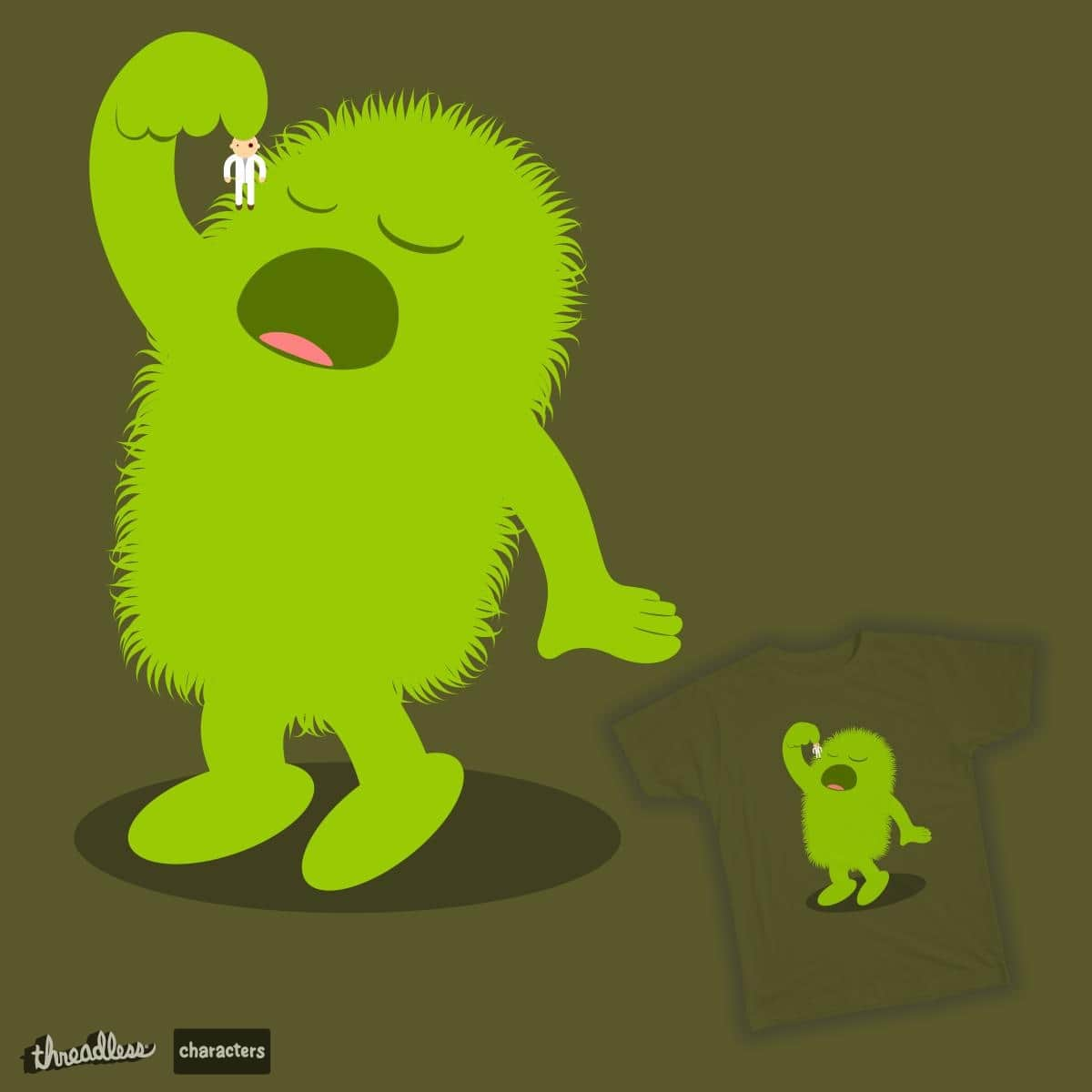 My furry hungry monster by cospell on Threadless