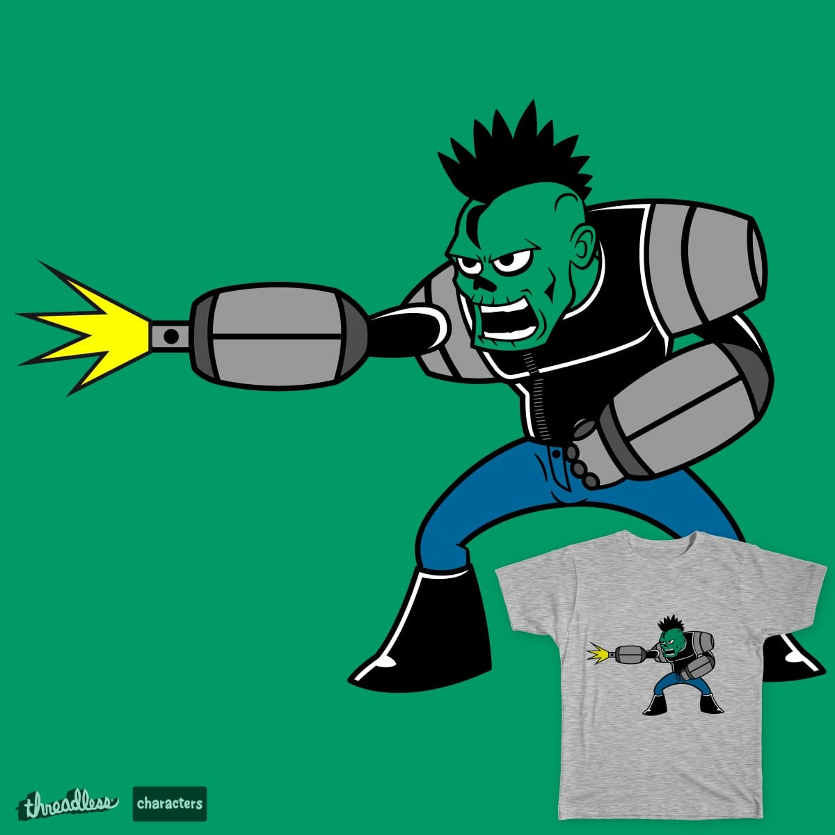 Doyle The Cy-Zombie Punk!!!! by ThugLifeStudio on Threadless