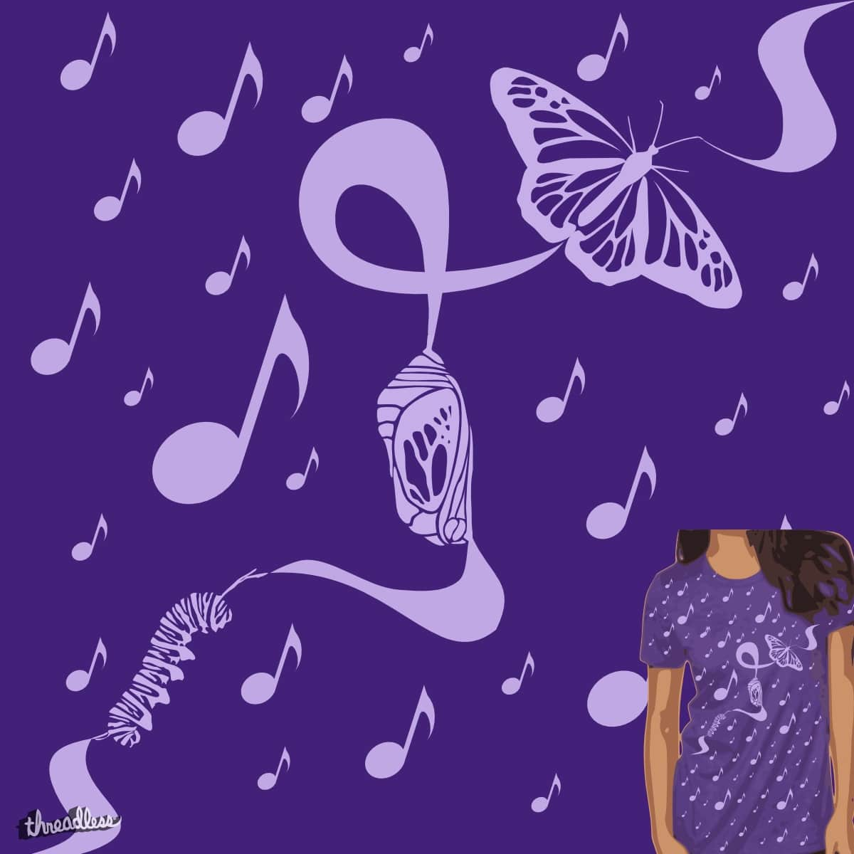 Music Metamorphisis by TRYBYK on Threadless