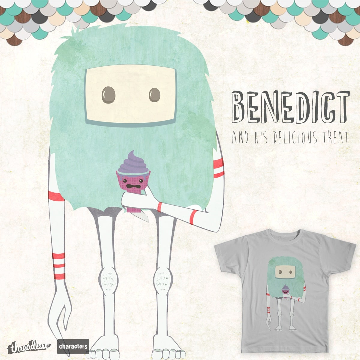 Benedict and His Delicious Treat by uniquelyrefined on Threadless