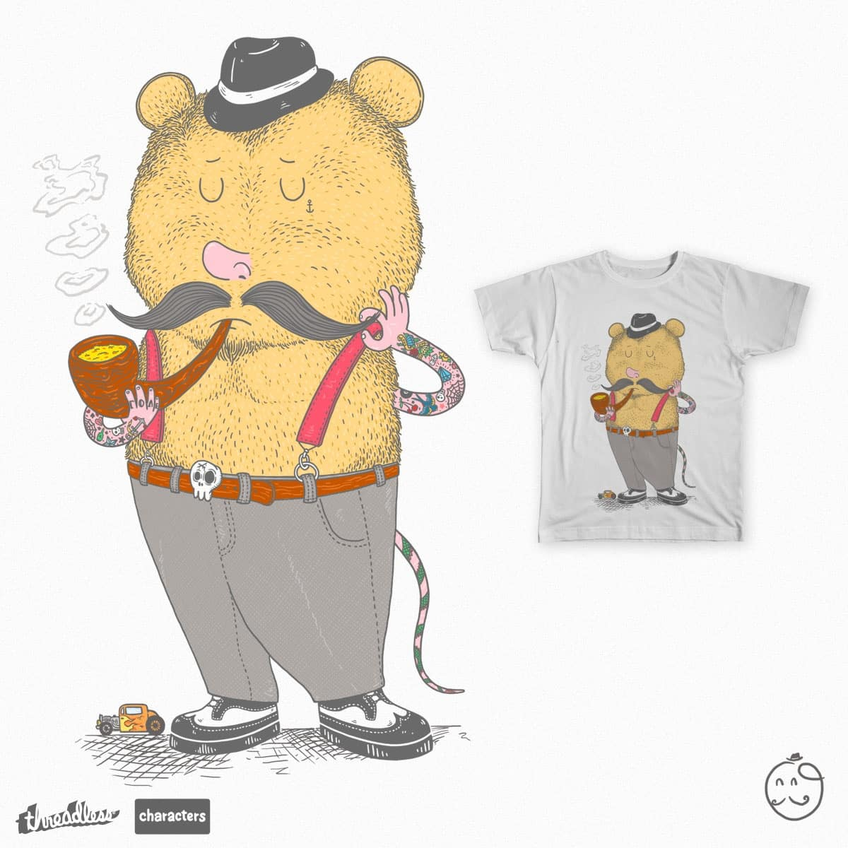 mouse touch the mustache by osano on Threadless