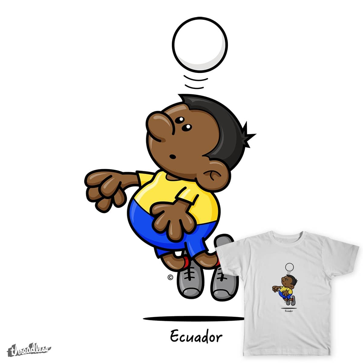2014 World Cup Cartoons - Ecuador by spaghettiarts on Threadless