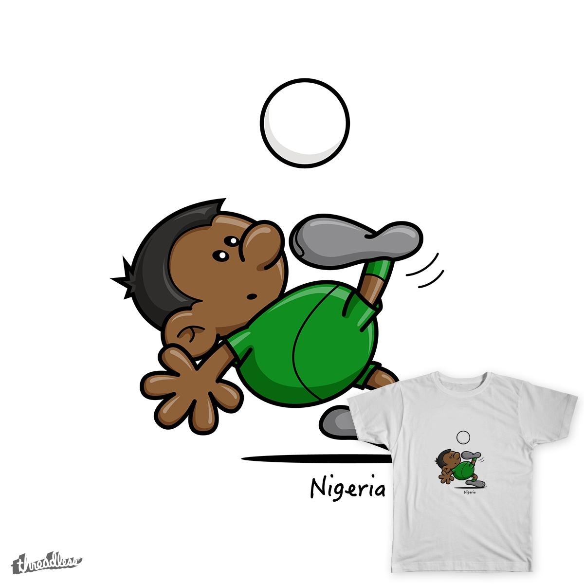 2014 World Cup Cartoons - Nigeria by spaghettiarts on Threadless