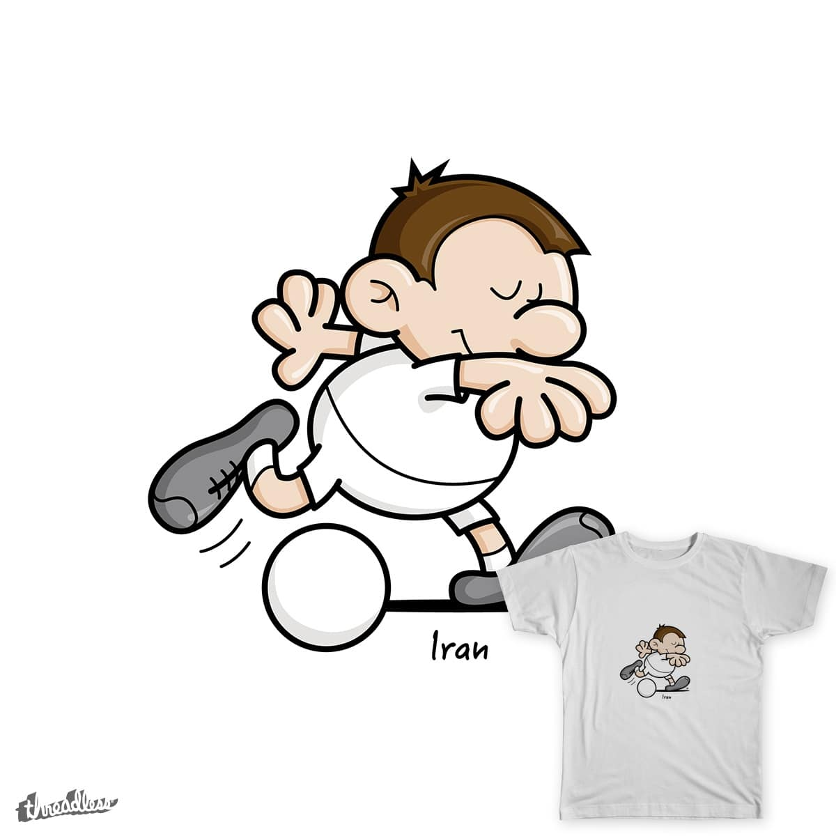 2014 World Cup Cartoons - Iran by spaghettiarts on Threadless