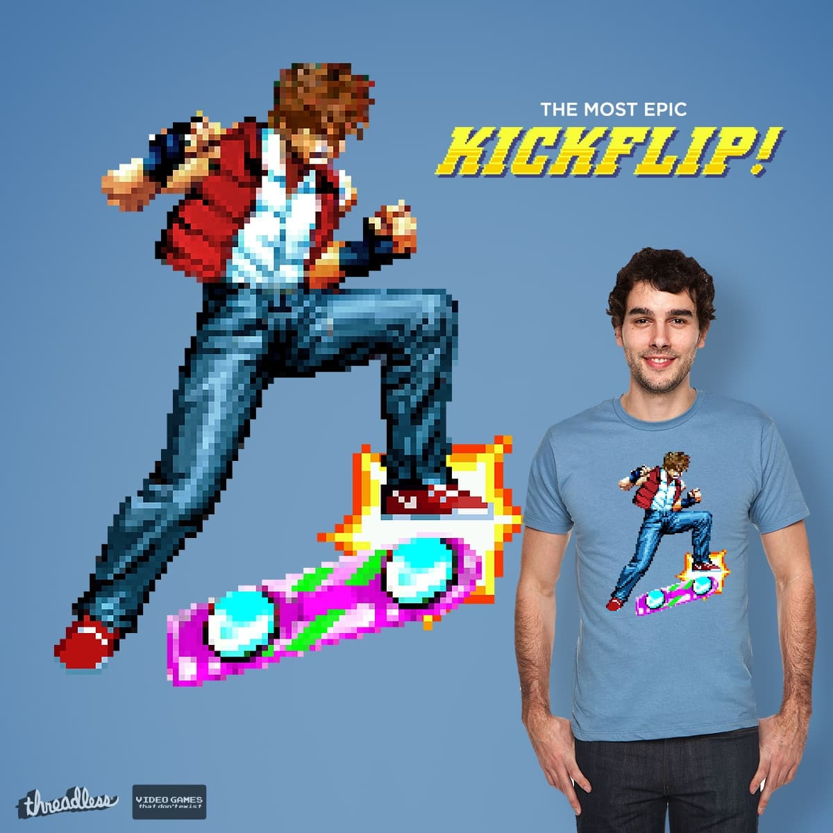 The most epic kickflip! by astro_naut on Threadless