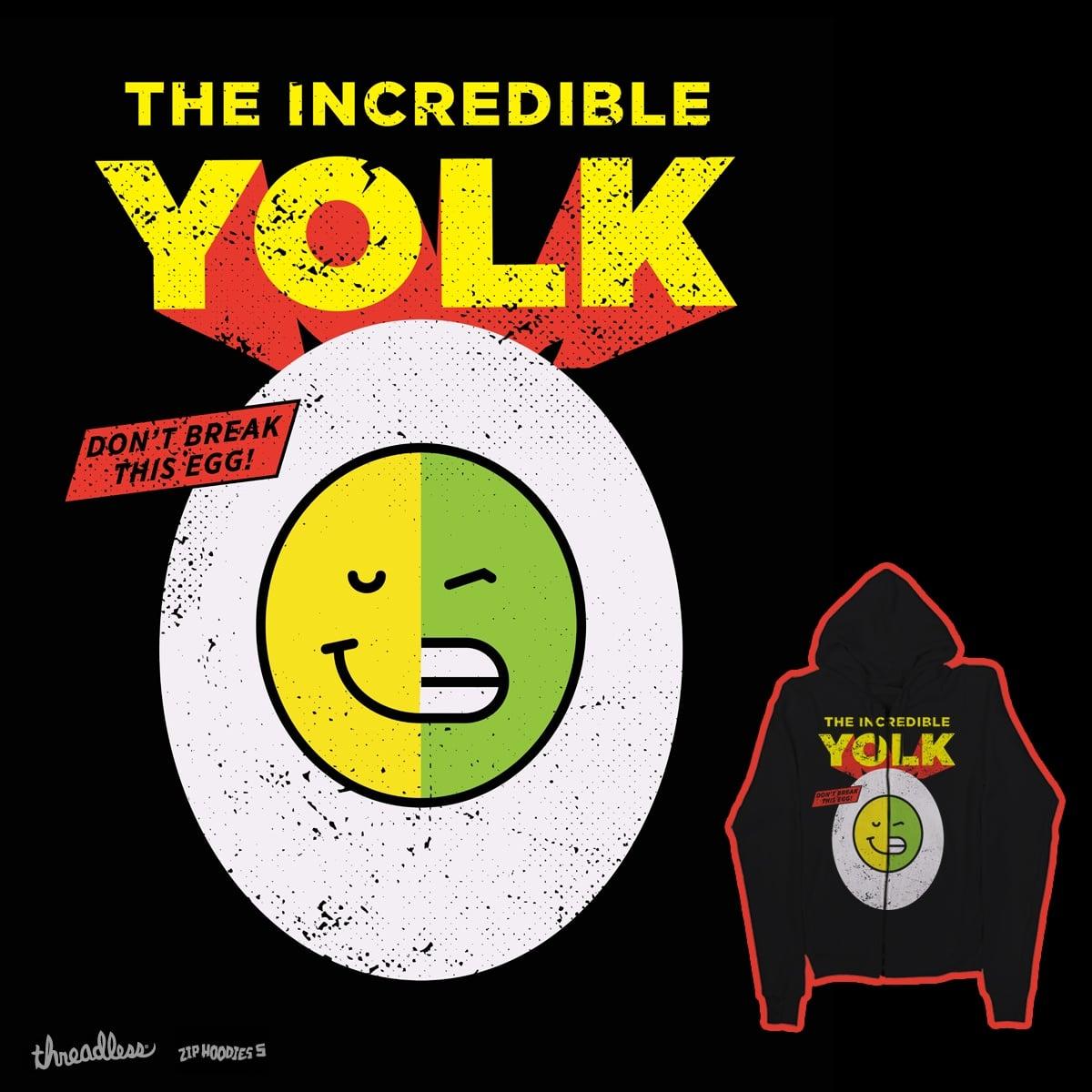 THE INCREDIBLE YOLK by campkatie on Threadless