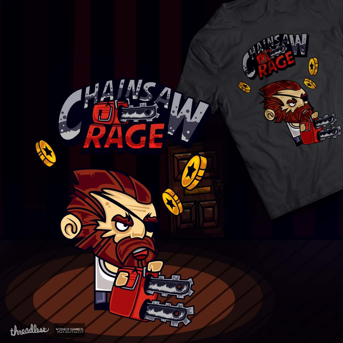 Chainsaw Rage by MikiboGraphics on Threadless