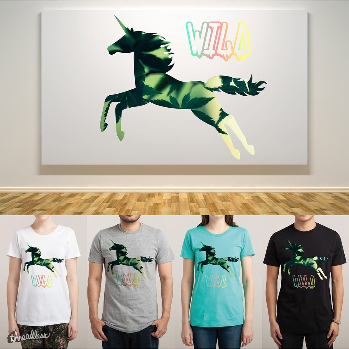 Wild Weed Unicorn by at-tea-time on Threadless
