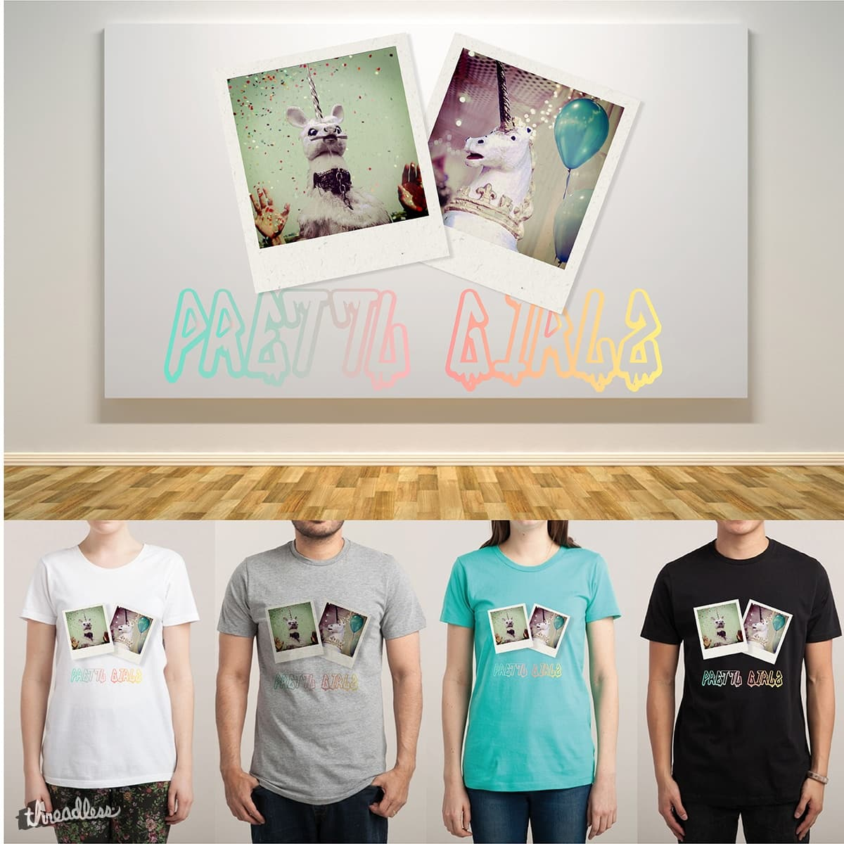 Pretty Party Unicornz by at-tea-time on Threadless