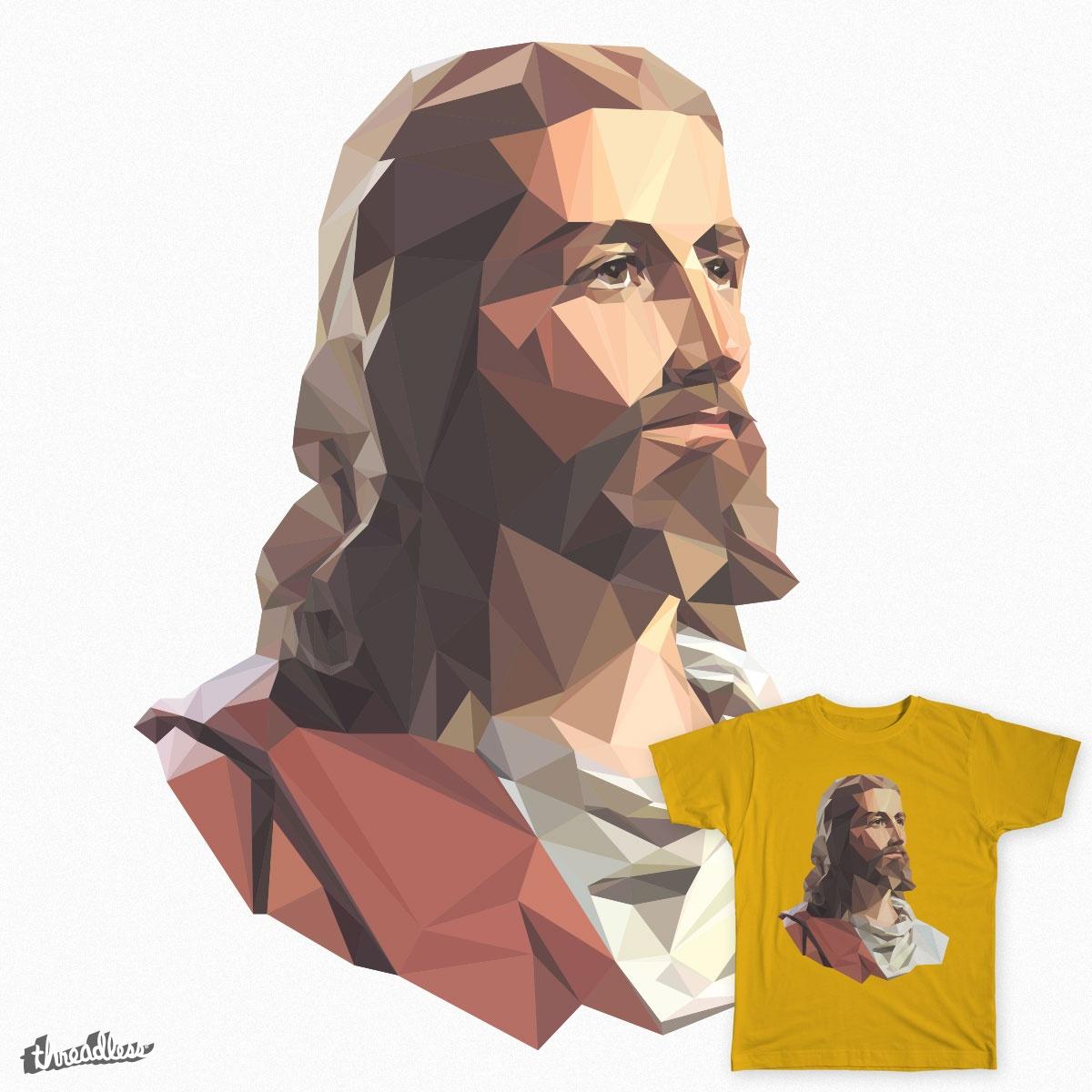 Low Poly Jesus by ryanperkins on Threadless