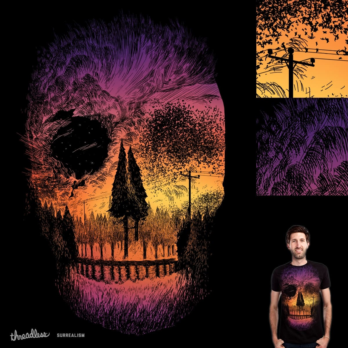 Starlight Starlings by SamDraws on Threadless
