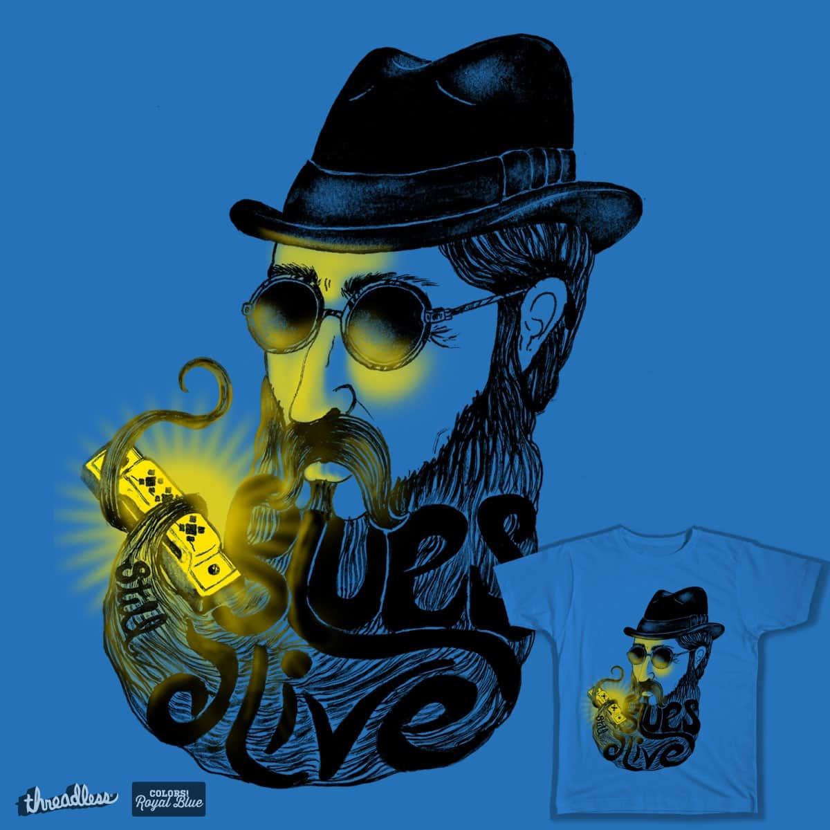 Blues still alive by SACHICO on Threadless